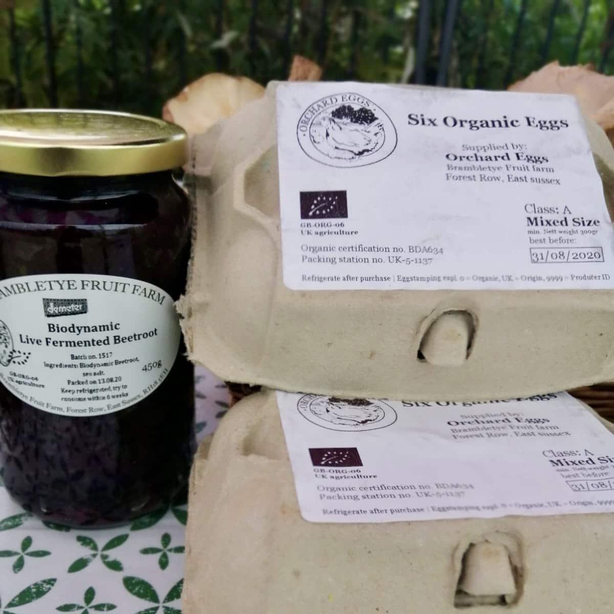 Eggs and fermented goods by Brambletye Fruit Farm