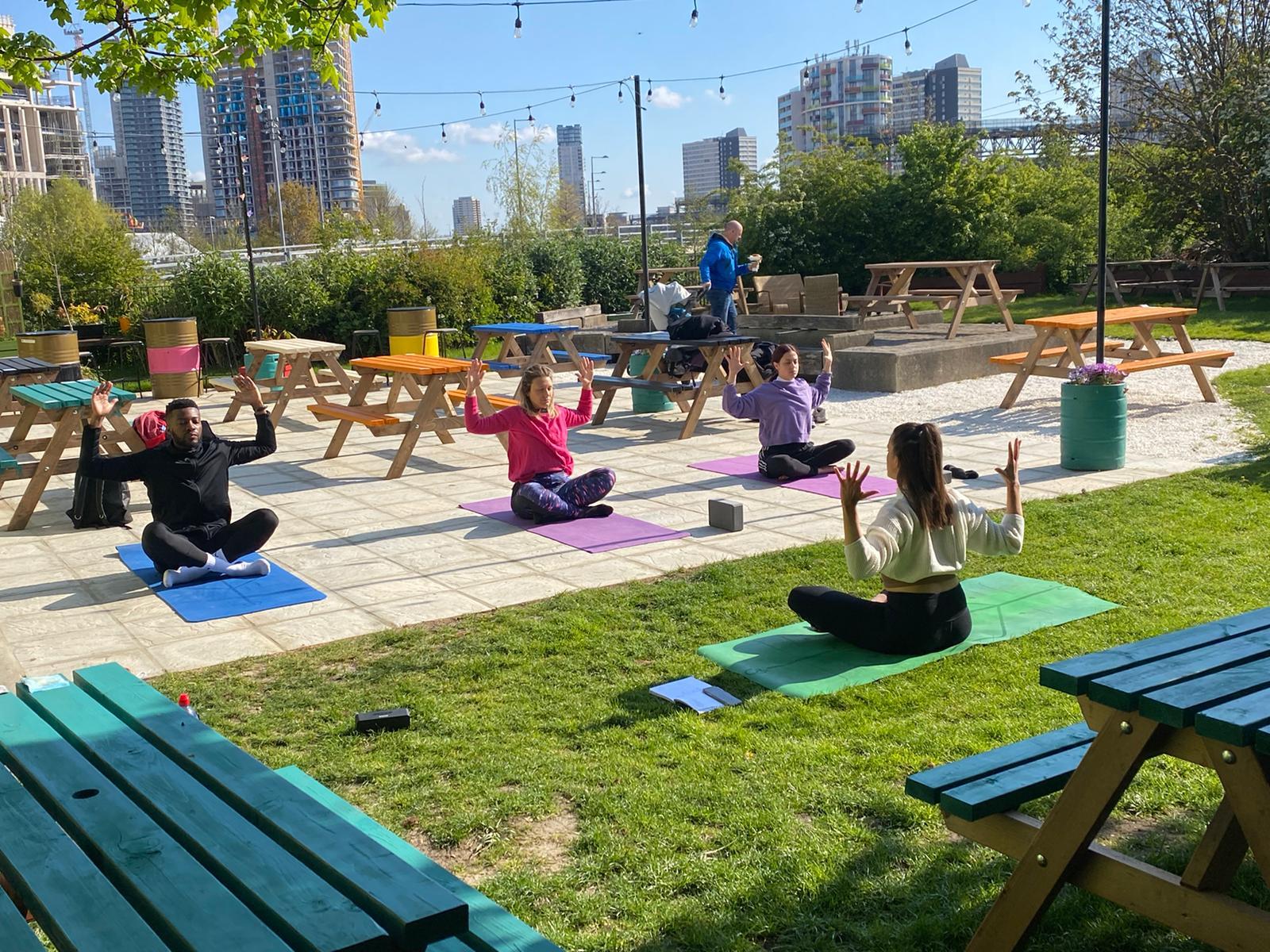 yoga at the view tube
